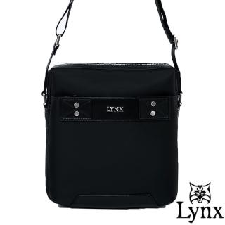 【Lynx】山貓紳士極簡風格直式真皮斜側背包-大(3色)