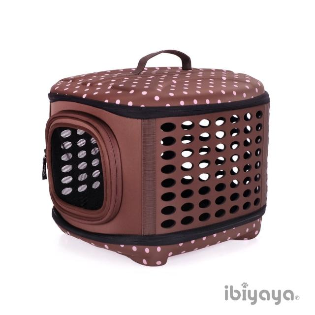 【IBIYAYA依比呀呀】EVA輕巧摺疊寵物提籠-咖啡點(FC1006)