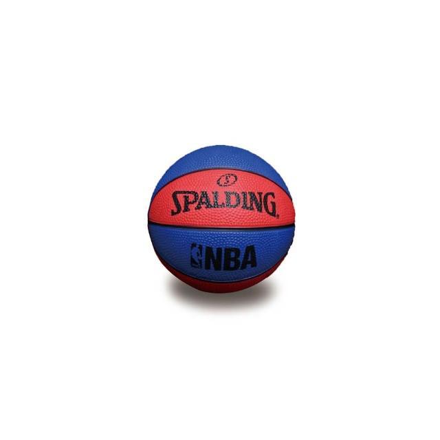 【SPALDING】NBA 一號籃球 迷你小球-斯伯丁 NBA 戶外(藍紅)