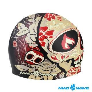 【俄羅斯MADWAVE】魔幻寫實設計款泳帽TOMB FACE CAP(競技 成人 飆速 泳帽)