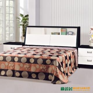 【綠活居】格薇黑白雙色5尺雙人床台(床頭箱+床底不含床墊)/