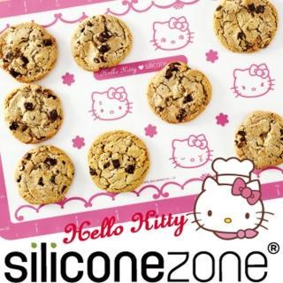 【Siliconezone】施理康Hello Kitty耐熱矽膠餅乾烤箱墊 粉色