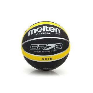 【MOLTEN】籃球-9色-7號球 附球針(黑黃)
