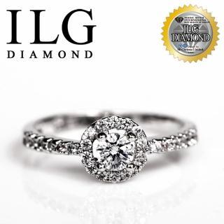 【ILG鑽】頂級八心八箭鑽石戒指-優雅巴黎款 主鑽約20分 極細緻經典的名品款 RI065(白K金色)