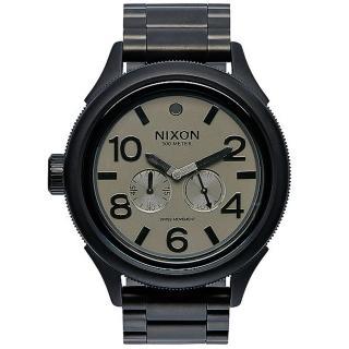 【NIXON】OCTOBER TIDE 戰鷹裴龍經典時尚腕錶-黑(A4741062)