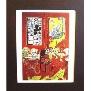 【開運陶源】Matisse馬諦斯的抽象畫 紅色室內景(4)
