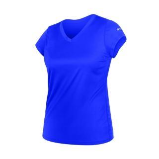 【HODARLA】女無感V領短T恤-慢跑 路跑 休閒(藍)