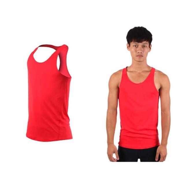 【HODARLA】男女肌膚無感挖背背心-輕量 抗UV 0秒吸濕排汗 無袖 台灣製(紅)