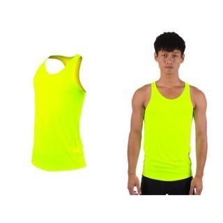 【HODARLA】男女肌膚無感挖背背心-輕量 抗UV 0秒吸濕排汗 無袖 台灣製(螢光黃)