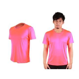 【HODARLA】FLARE 300 男女超柔肌膚排汗衫-短袖T恤 涼感 柔膚 台灣製(螢光粉)