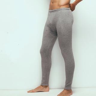 【HENIS】時尚型男速暖絨彈性居家長褲-2件組(隨機取色)