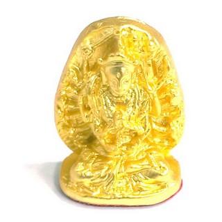 【十相自在】2.4公分 小佛像/法像-金黃色(十八臂準提佛母)