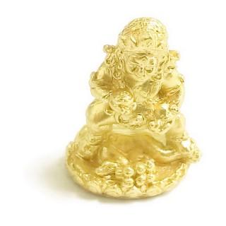 【十相自在】2.7公分 小佛像/法像-金黃色(黑財神)
