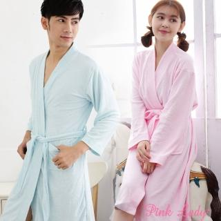 【PINK LADY】浪漫生活-吸水毛巾布純色浴袍8788-1(白/ 粉/ 藍)