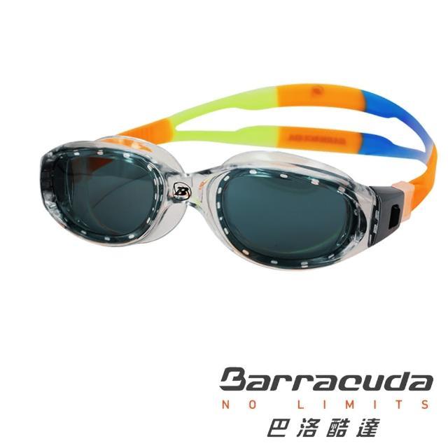 【美國巴洛酷達Barracuda】12-18歲廣角一體成形泳鏡#MANTA JR(三鐵 開放水域 舒適)