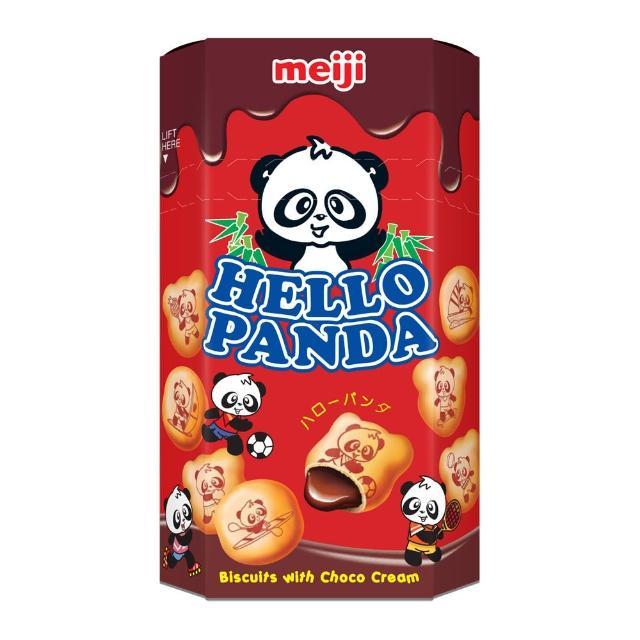 【明治】HELLO PANDA 貓熊夾心餅乾-巧克力口味50g(巧克力)