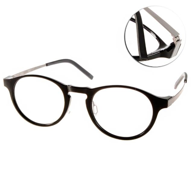 【JULIO眼鏡】完美工藝(黑-銀#SHANGHAI BLK)