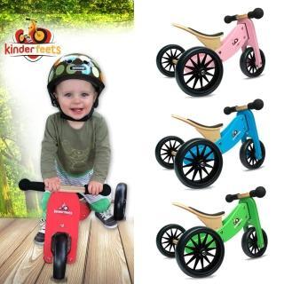 【Kinderfeets】美國木製平衡滑步車/教具車-初心者三輪系列(4色可選)