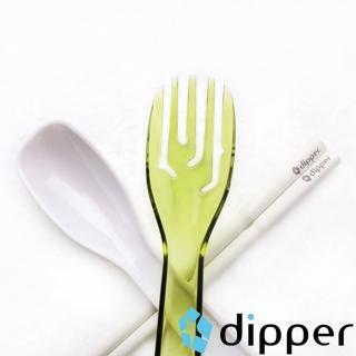 【dipper】3合1SPS環保餐具組(青嫩綠叉)