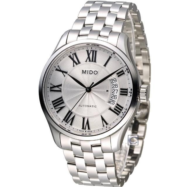 【美度錶 MIDO】Belluna II 80小時動力儲存機械腕錶(M0244071103300)