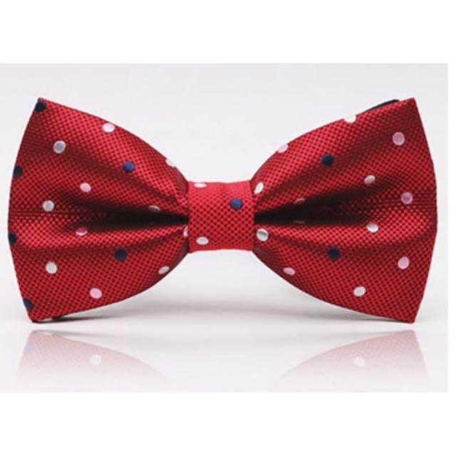 【拉福】點點色織領結新郎結婚領結糾糾(暗紅色)網路熱賣