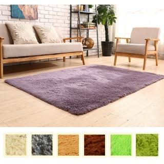 【幸福揚邑】舒壓長毛羊絲絨超軟防滑吸水地毯-共六色(140x200cm)