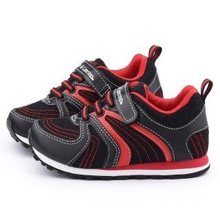 【童鞋城堡】義大利Roberta 中大童 輕量透氣運動鞋(615080-黑)