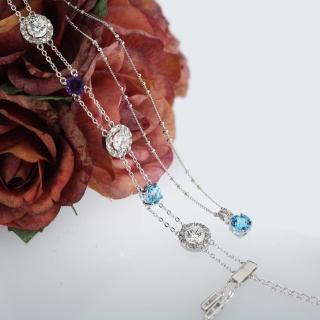 【xmono】繽紛炫彩天然寶石項鍊手鍊套組