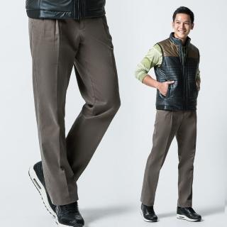 【Christian】紳士品味100%棉雙摺休閒褲 深橄綠(HW406-2)