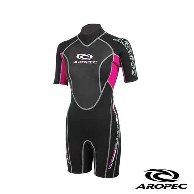 【AROPEC】Climax 頂點女款潛水防寒衣(黑/粉紅)