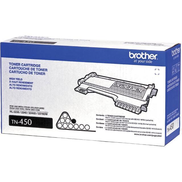 【Brother】TN-450 原廠高容量黑色碳粉匣(速達)