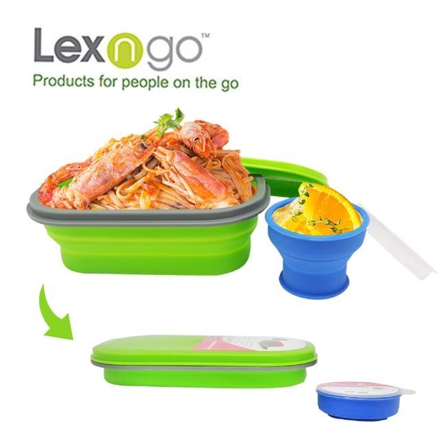 【Lexngo】可折疊午餐組-小(餐盒 碗盤 廚具 便當)