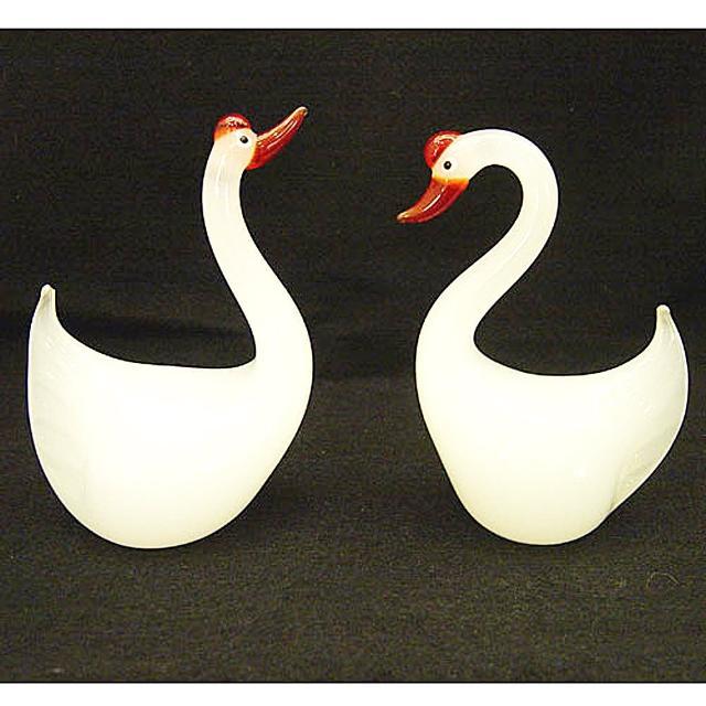 【開運陶源】鶼鰈情深 手工吹製藝術玻璃(幸福天鵝1對)