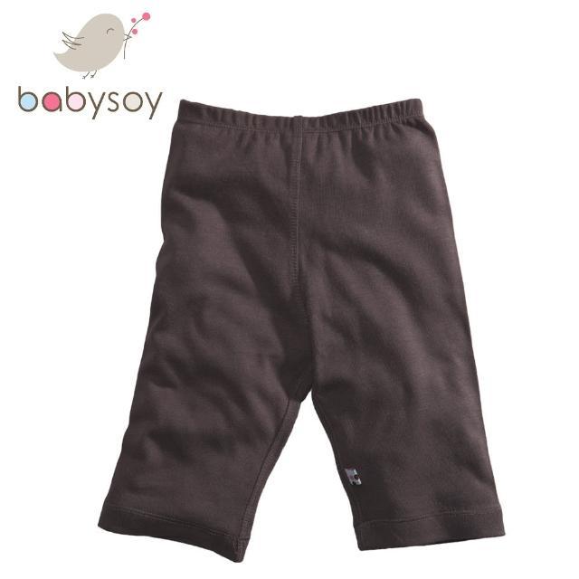 【美國 Babysoy】aney Baby 有機棉百搭彈性長褲626(咖啡)