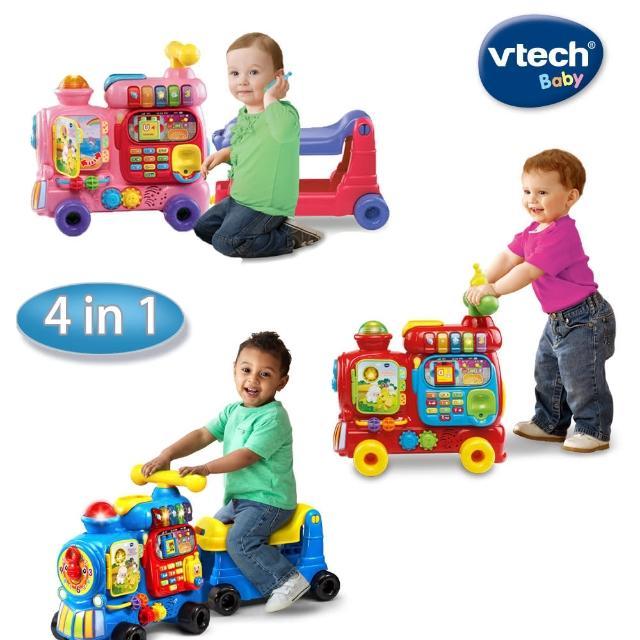【Vtech】4合1智慧積木學習車-2色(快樂兒童首選玩具)