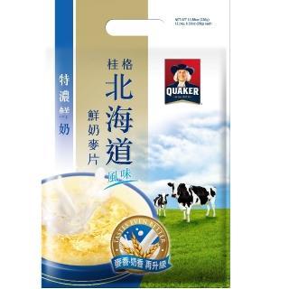 【桂格】北海道特濃鮮奶麥片28g*12入(早餐推薦)/