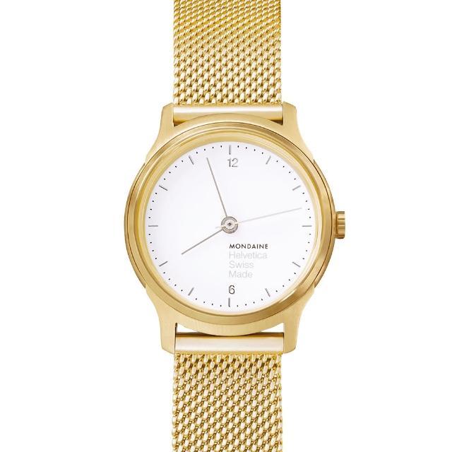 【MONDAINE瑞士國鐵】設計系列限量腕錶(金米蘭帶/26mm)