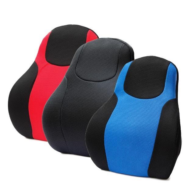 【3D】賽車椅護腰墊(黑/藍/紅)