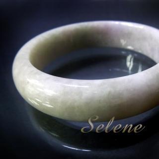 【Selene 珠寶】芙蓉地春帶彩手鐲(A貨翡翠6267)