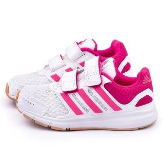 【Adidas】中大童 輕量透氣運動跑鞋(B23861-白桃)