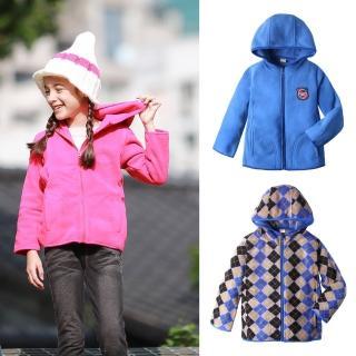 【baby童衣】高領保暖搖粒絨連帽外套 50797(共3色)