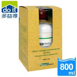 【多益得】木質地板防潮保護亮光精油-紅木(800ml)