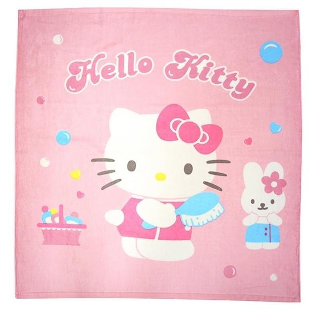 【HELLO KITTY】絨毛四方浴巾