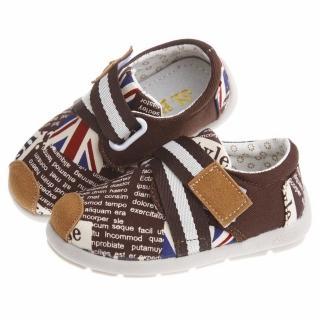 【布布童鞋】歐風英倫玩酷字母潮流綁帶紳士棕防滑超柔軟橡膠底休閒鞋(ODN538L)