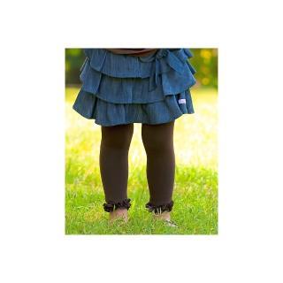【美國 RuffleButts】小公主甜美荷葉邊內搭褲/襪_咖啡色(RBRT002)