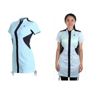 【SOOMOM】SOGK 女伊奧文連身裙-短袖車衣 單車 自行車(淺藍)
