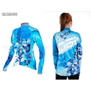 【SOOMOM】SOGK 幻影 女薄長袖車衣-反光條 自行車 腳踏車 單車(水藍)