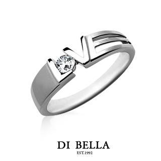 【DI BELLA】HEART BEAT 真鑽情人戒指(女款)