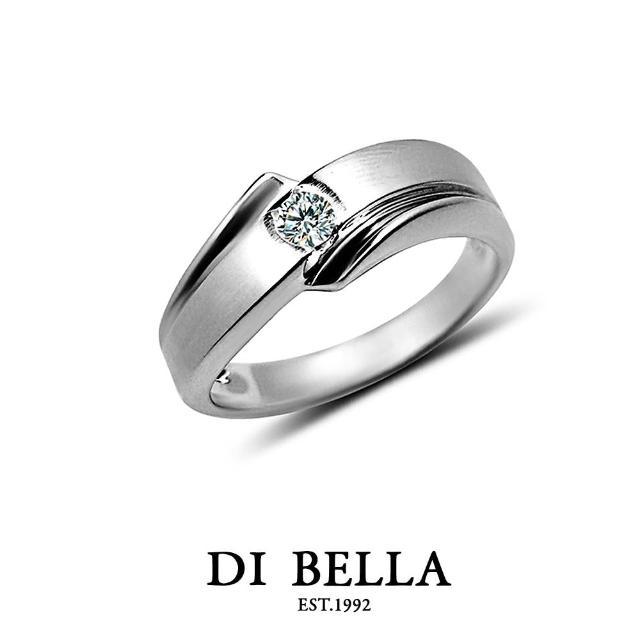 【DI BELLA】LOVE STORY真鑽情人戒指(男款)
