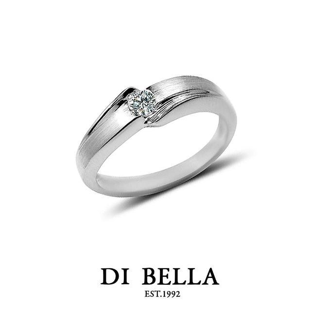 【DI BELLA】LOVE STORY 真鑽情人戒指(女款)